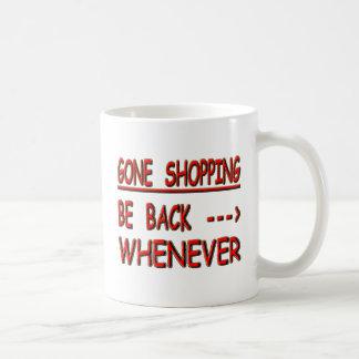 gone shopping coffee mug