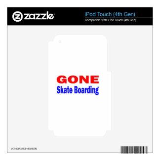 Gone Skate Boarding. Skin For iPod Touch 4G
