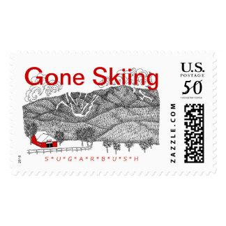 GONE SKIING to Sugarbush Vermont Postage