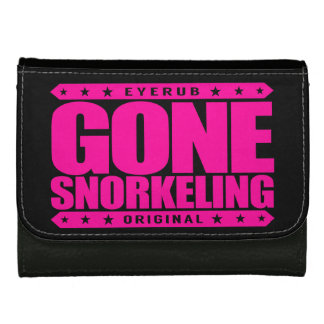 GONE SNORKELING - Fishes, Sea Turtles, Coral Reefs Leather Wallet For Women