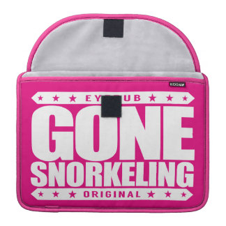 GONE SNORKELING - Fishes, Sea Turtles, Coral Reefs Sleeve For MacBooks