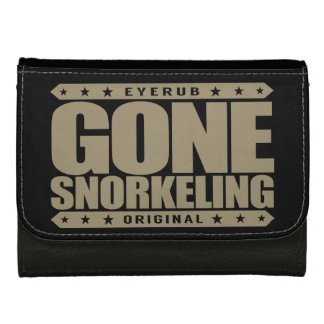 GONE SNORKELING - Fishes, Sea Turtles, Coral Reefs Wallet For Women
