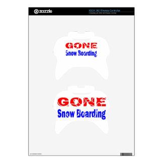 Gone Snow Boarding. Xbox 360 Controller Skin