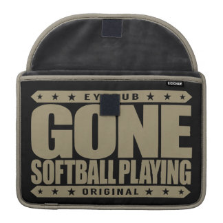 GONE SOFTBALL PLAYING - World Series Championship Sleeves For MacBook Pro