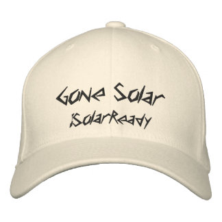 Gone Solar Embroidered Hat