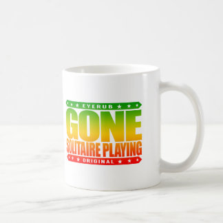 GONE SOLITAIRE PLAYING - I Am Undefeated Champion Classic White Coffee Mug