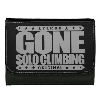 GONE SOLO CLIMBING - Skilled Fearless Free Climber Leather Wallet For Women