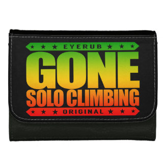 GONE SOLO CLIMBING - Skilled Fearless Free Climber Women's Wallets