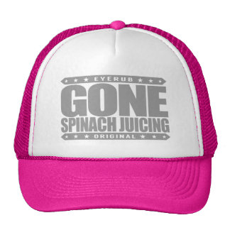 GONE SPINACH JUICING - I Love Juice Detox Cleanse Trucker Hat