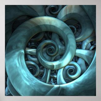 Gone Spiral - 3-D Fractal Desgin Posters