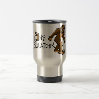 Gone Squatchin 15 Oz Stainless Steel Travel Mug