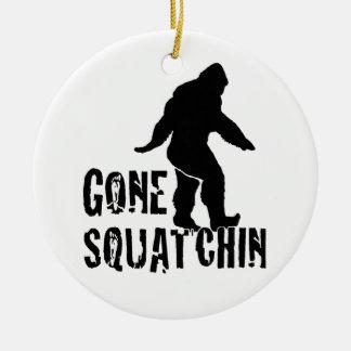 Gone Squatchin 2 Ceramic Ornament