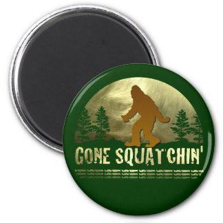 Gone Squatchin' 2 Inch Round Magnet