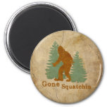 Gone Squatchin 2 Inch Round Magnet