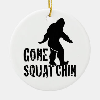 Gone Squatchin 2 Double-Sided Ceramic Round Christmas Ornament