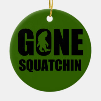 Gone Squatchin 3 Double-Sided Ceramic Round Christmas Ornament