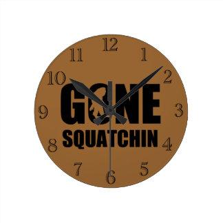 Gone Squatchin 3 Round Clock