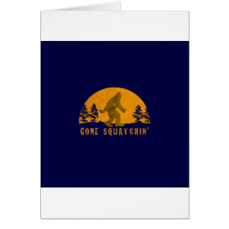 Gone Squatchin' Awesome Vintage Sunset Greeting Card