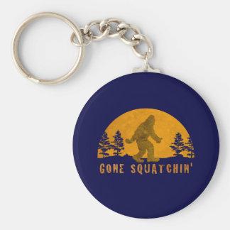 Gone Squatchin' Awesome Vintage Sunset Basic Round Button Keychain