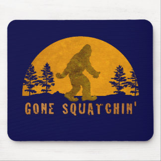 Gone Squatchin' Awesome Vintage Sunset Mouse Pad