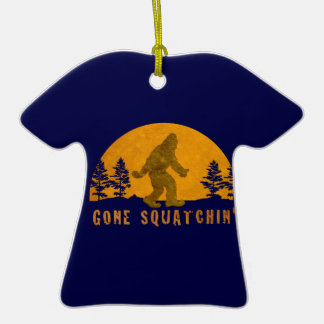 Gone Squatchin' Awesome Vintage Sunset Double-Sided T-Shirt Ceramic Christmas Ornament
