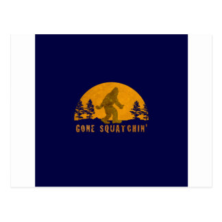 Gone Squatchin' Awesome Vintage Sunset Postcard