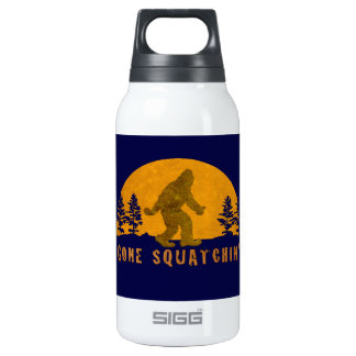 Gone Squatchin' Awesome Vintage Sunset 10 Oz Insulated SIGG Thermos Water Bottle