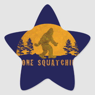 Gone Squatchin' Awesome Vintage Sunset Star Sticker