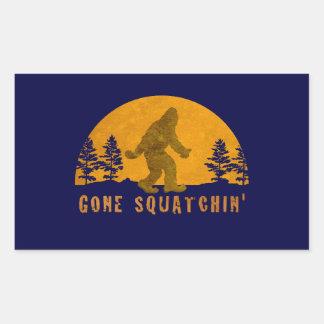 Gone Squatchin' Awesome Vintage Sunset Rectangular Sticker