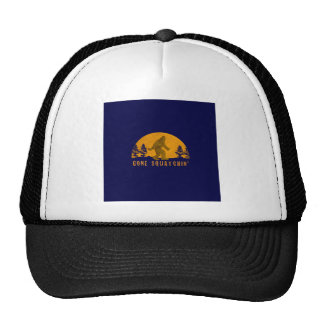 Gone Squatchin' Awesome Vintage Sunset Trucker Hat
