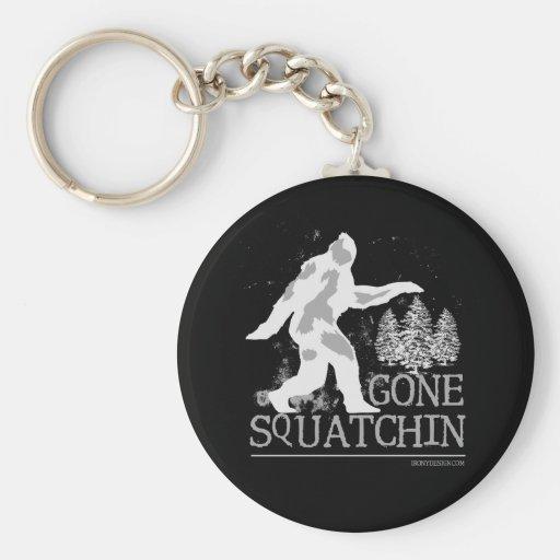 Gone Squatchin Basic Round Button Keychain