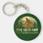 Gone Squatchin' Basic Round Button Keychain
