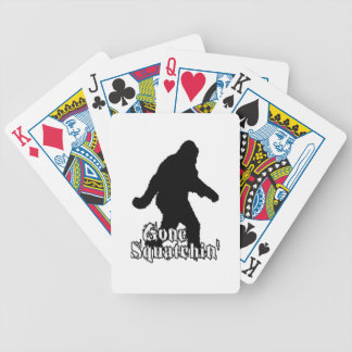 Gone Squatchin' Bicycle Playing Cards