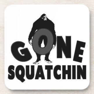 Gone Squatchin - Bigfoot holding O Beverage Coaster