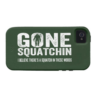 GONE SQUATCHIN  Bigfoot Hunter Cool Grunge Text iPhone 4/4S Cases