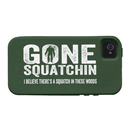 GONE SQUATCHIN  Bigfoot Hunter Cool Grunge Text Case-Mate iPhone 4 Case