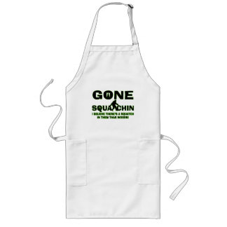 Gone Squatchin Bigfoot In Woods Aprons