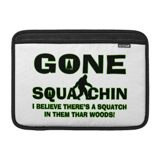 Gone Squatchin Bigfoot In Woods MacBook Air Sleeves