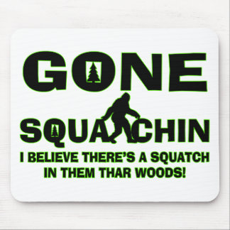 Gone Squatchin Bigfoot In Woods Mouse Pad