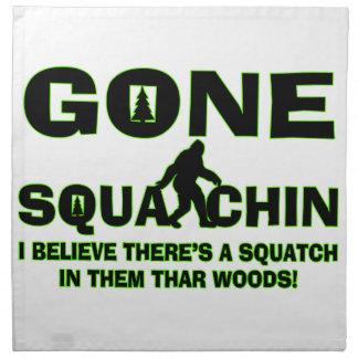 Gone Squatchin Bigfoot In Woods Napkin