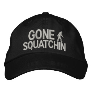 Gone Squatchin bigfoot logo Embroidered Baseball Hat