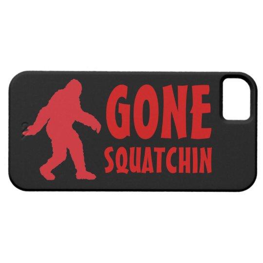 Gone squatchin bigfoot red black iphone 5 case