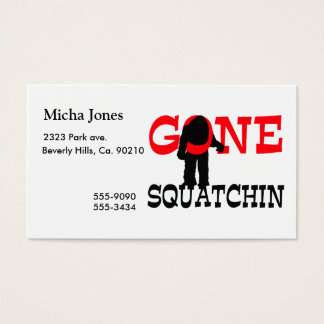 Gone Squatchin Bigfoot Trapped Business Card