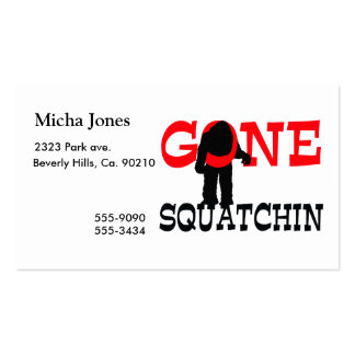 Gone Squatchin Bigfoot Trapped Double-Sided Standard Business Cards (Pack Of 100)