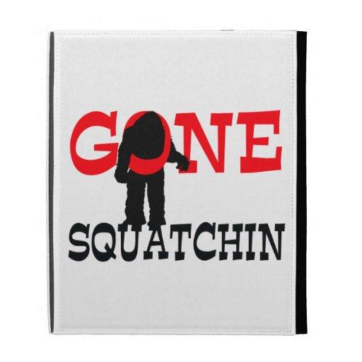 Gone Squatchin Bigfoot Trapped iPad Folio Cases