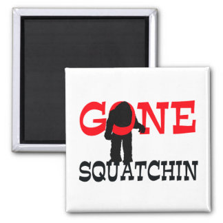Gone Squatchin Bigfoot Trapped Magnet
