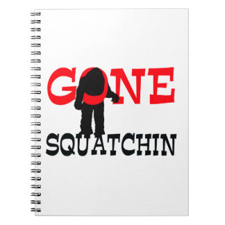 Gone Squatchin Bigfoot Trapped Spiral Notebooks