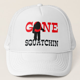 Gone Squatchin Bigfoot Trapped Trucker Hat
