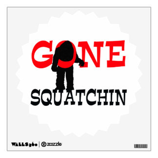 Gone Squatchin Bigfoot Trapped Wall Sticker