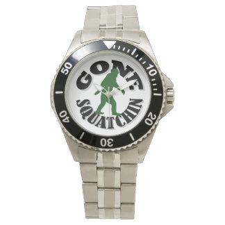 Gone Squatchin bigfoot Wrist Watches